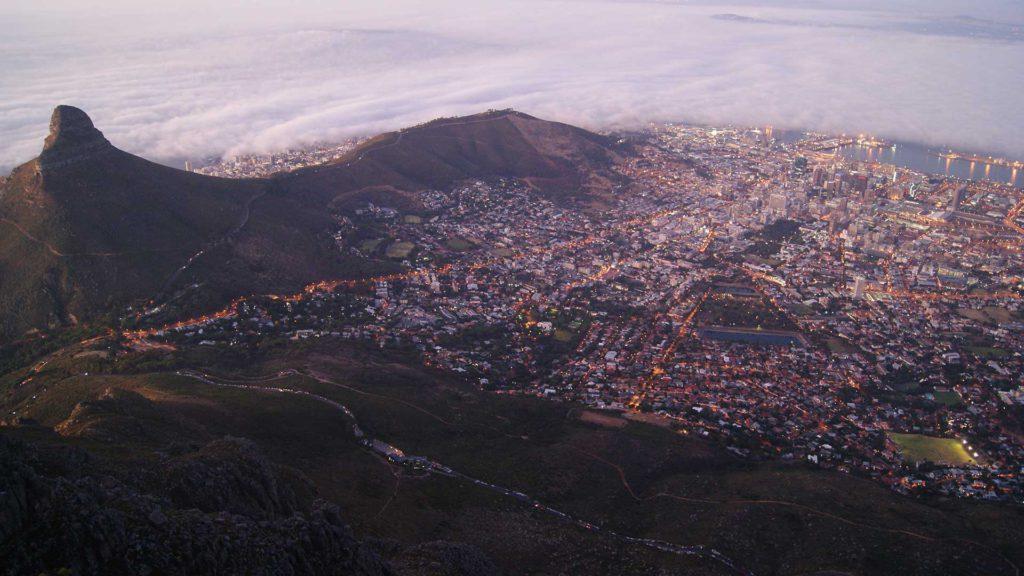 Ein beeindruckender Blick auf Kapstadt